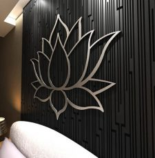 Lotus Wall art Metallic Design