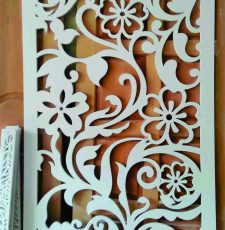 Floral Jali partition design
