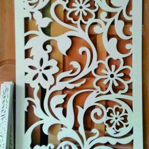 Floral Jali partition design