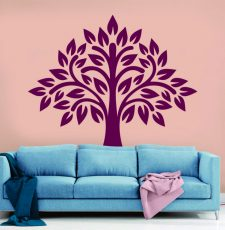 Simple blossoming tree wall art design