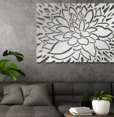 Lotus wall art partition design