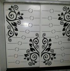 simple elegant floral design for gate door