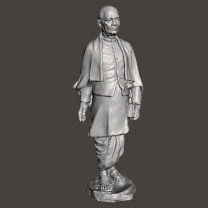 Sardar Patel 3D Design STL for 3D Printer