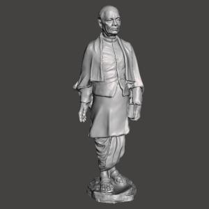 Sardar Patel 3D Design STL for 3D Printer