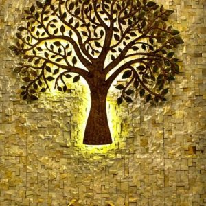 Lighting tree wall art laser cut