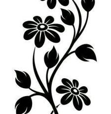 3 flower plant design