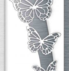 butterfly metal wall art design