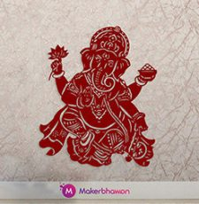 Ganpati wall art design