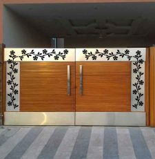 Flower gate border design