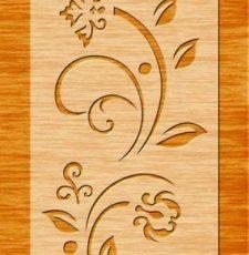 Floral orange plate design