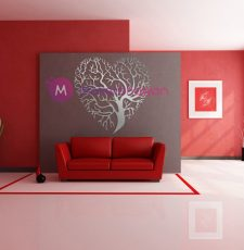 Heart tree design