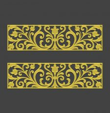 Vintage 2D vector art horizontal design