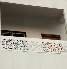 White balcony grill design