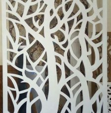 White tree grill design