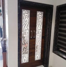 Long white acrylic door design