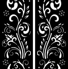 Iron door plate design