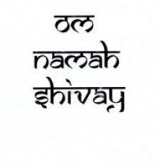 OM Namah shivay font design