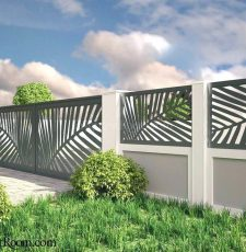 Palm leaf house fence design