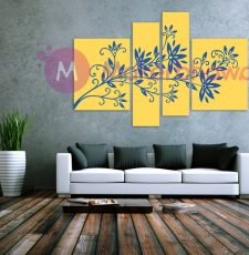 Tree wall art penal design