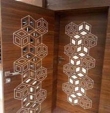 Hexagon Door Design CNC Router DXF