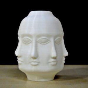 Budhha multi faces vase 3D printing STL File