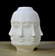 Budhha multi faces vase 3D printing STL File
