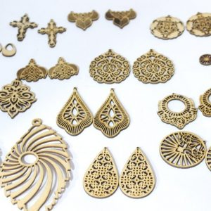 Fashion earring Laser cutting