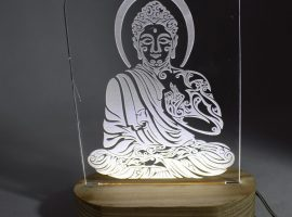 LED Base Night Lamp with customised Laser Engraving Picture