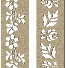 CNC Door plasma and router flower design Dxf