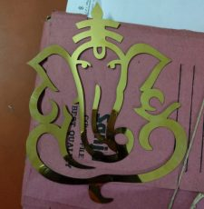 Ganesha emblem Logo laser cutting wedding
