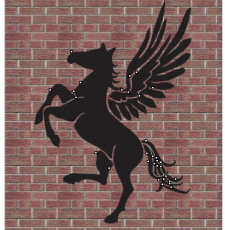 Flying Horse vector file