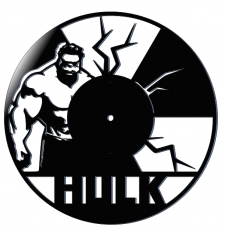 Hulk Wall Clock Dxf Laser art