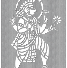Krishna Vishnu Laser cut wall art gate