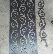 Curl plasma cut floral gate door design