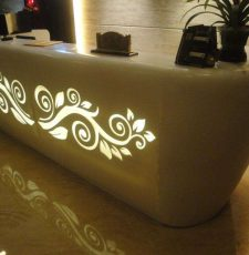 Curl plant design for reception table