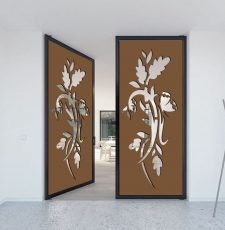 butterfly plant gate design metal cnc cut dxf file
