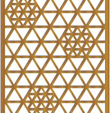tringular Geomatric grill laser cut dxf file