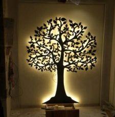Tree wall art design file interior