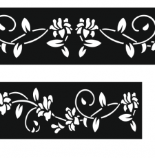floral laser cut long design different size