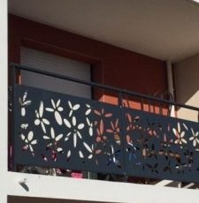 flower balcony grill design