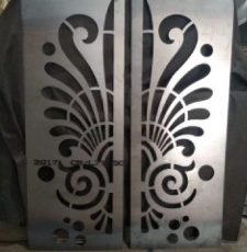 double gate plasma laser cut dxf file