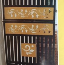 Metal plate gate design