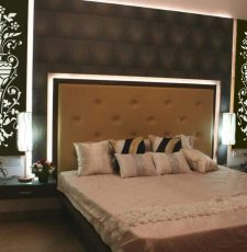 bedroom side wall laser cut dxf flower art