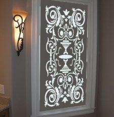 window laser cut acrylic light DXF file