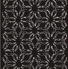 Star curl cnc design