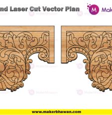 home temple side part engraving plate design dxf