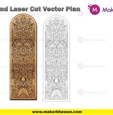 vertical long door engraving plate home temple part dxf