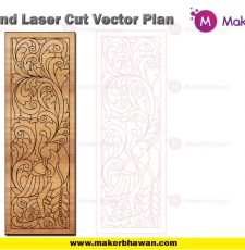 vertical plate engraving home temple part design