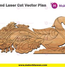 peacock home temple engraved design dxf