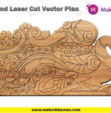 peacock plate home temple bed engraving plate design dxf